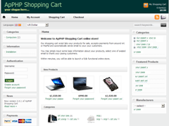 ApPHP Shopping Cart Discount Coupon Code demo