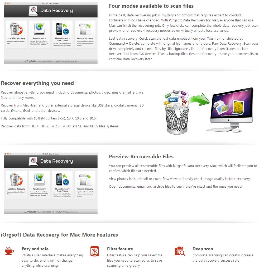 iOrgsoft Data Recovery for Mac-sc