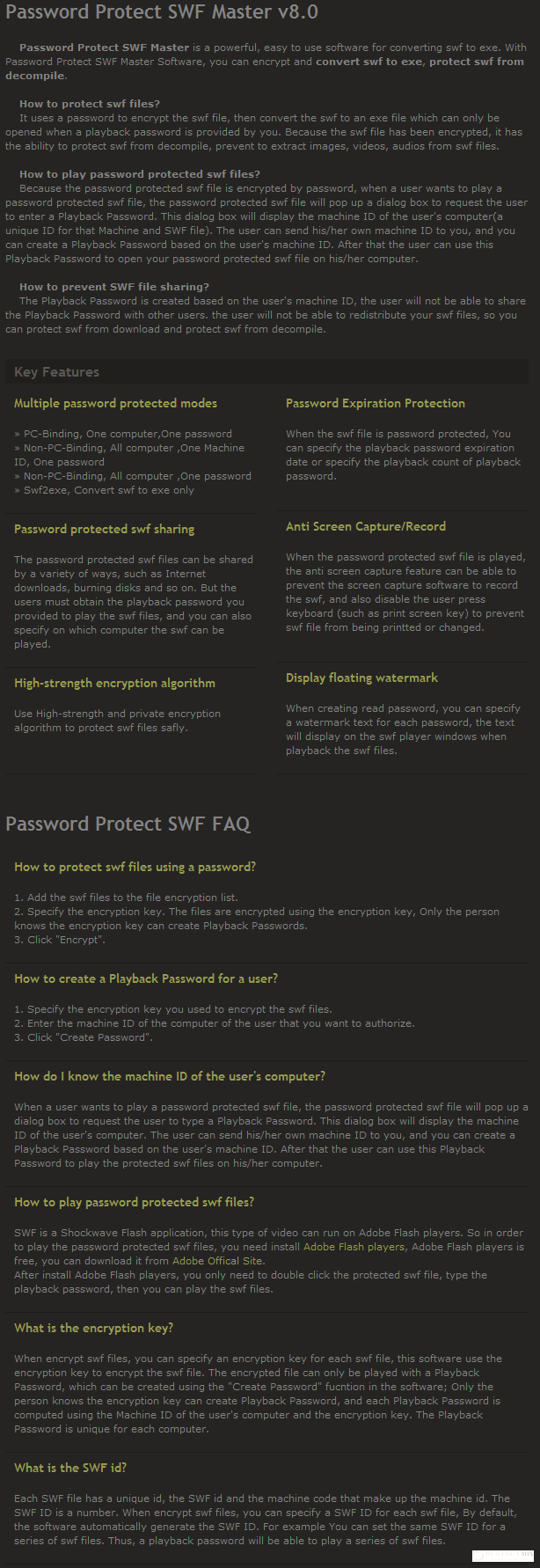 Password Protect SWF Master Discount Coupon Code
