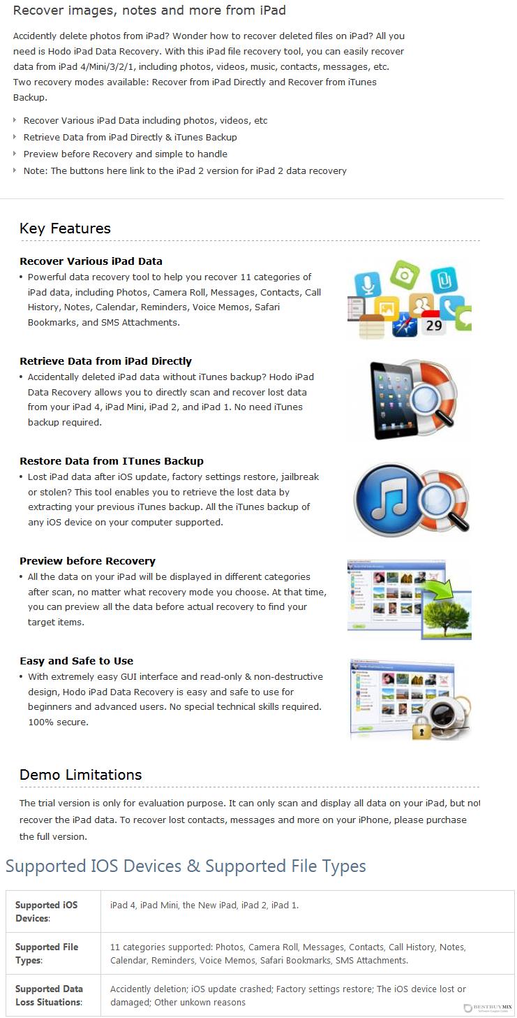 Hodo iPad Data Recovery Discount Coupon Code