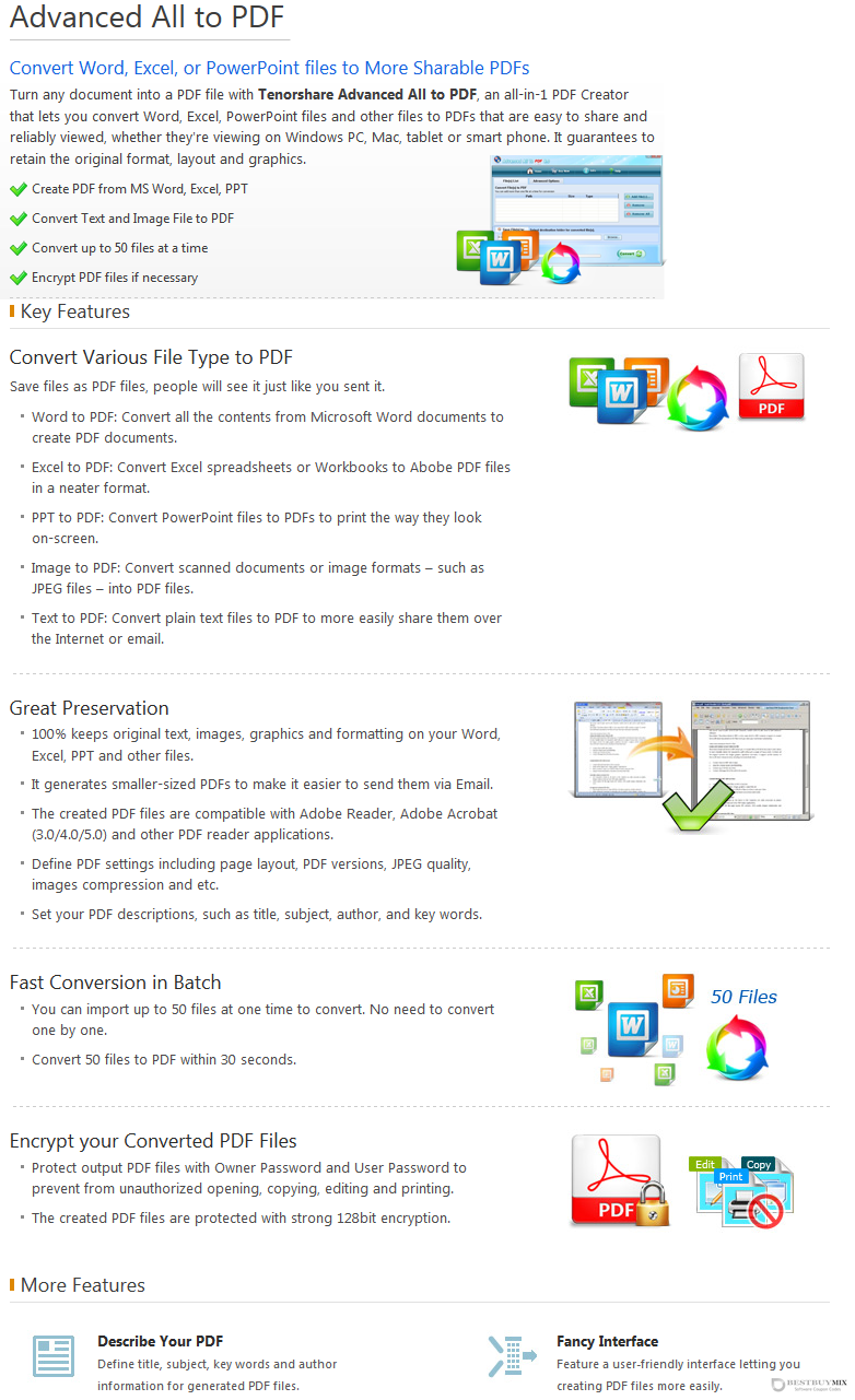 Tenorshare Advanced All to PDF for Windows Discount Coupon Code