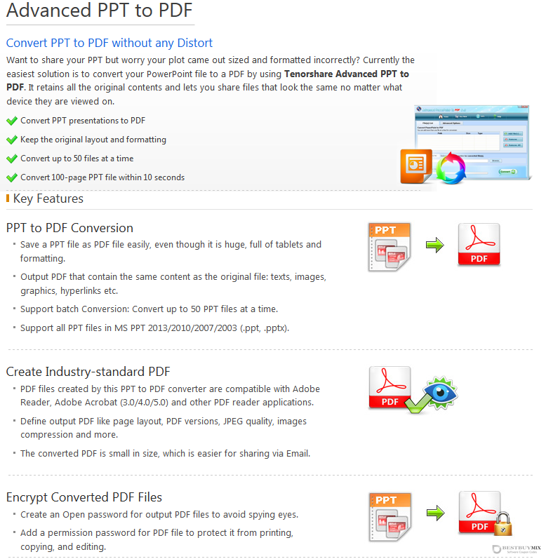 Tenorshare Advanced PPT to PDF for Windows Discount Coupon Code