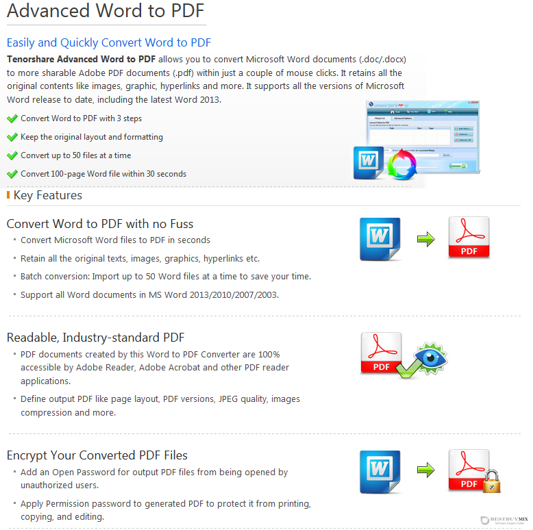 Tenorshare Advanced Word to PDF for Windows Discount Coupon Code