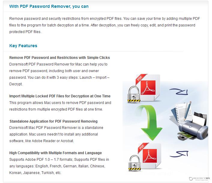Doremisoft Mac PDF Password Remover