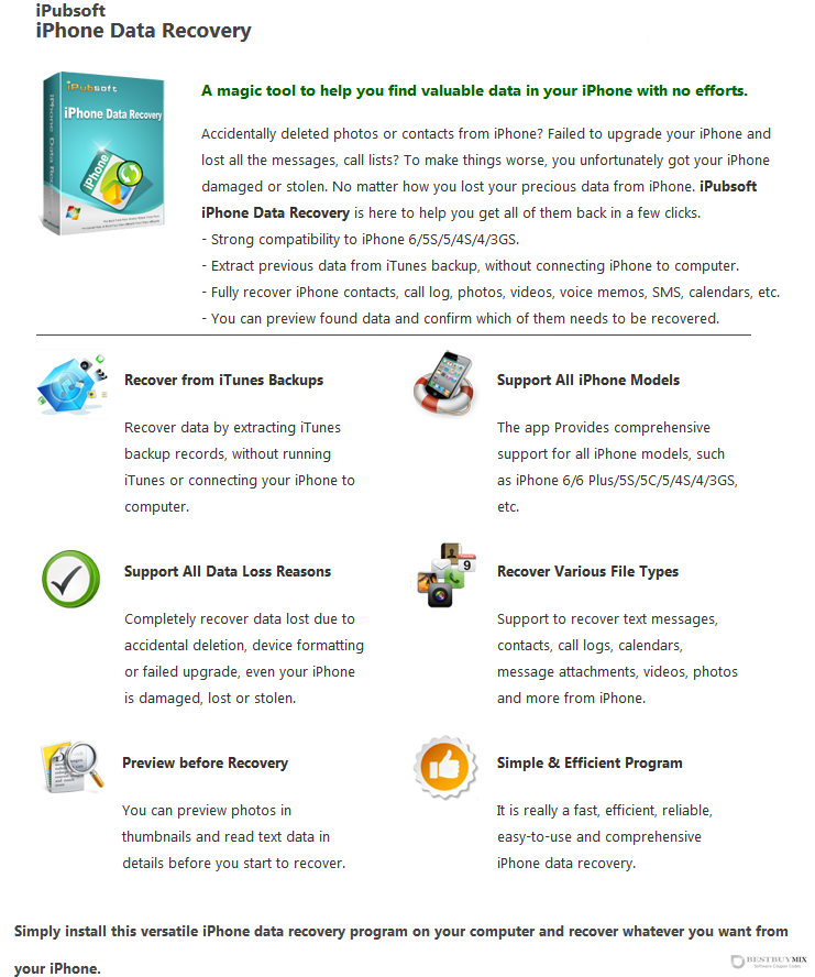 iPubsoft iPhone Data Recovery Discount Coupon Code