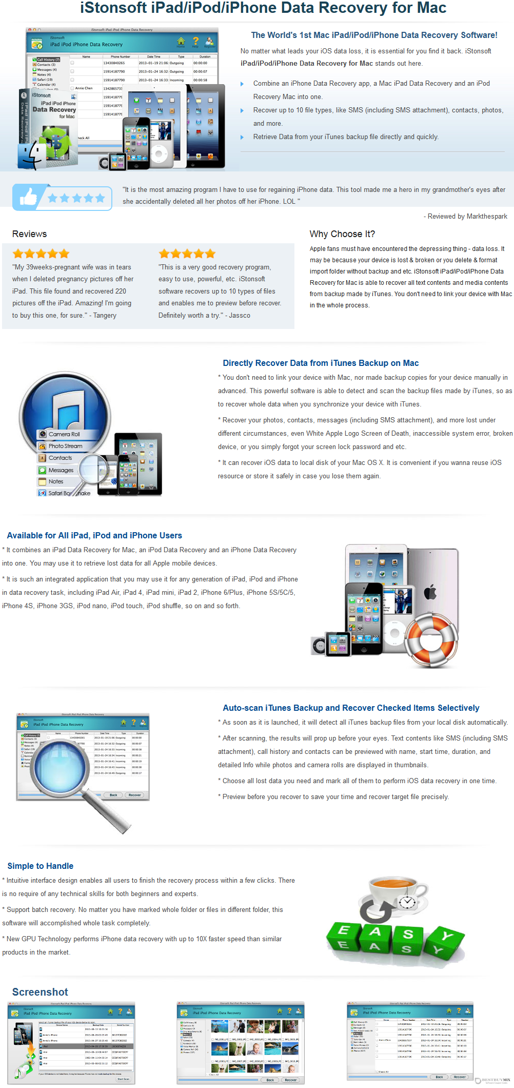 iStonsoft iPad/iPod/iPhone Data Recovery for Mac Discount Coupon Code