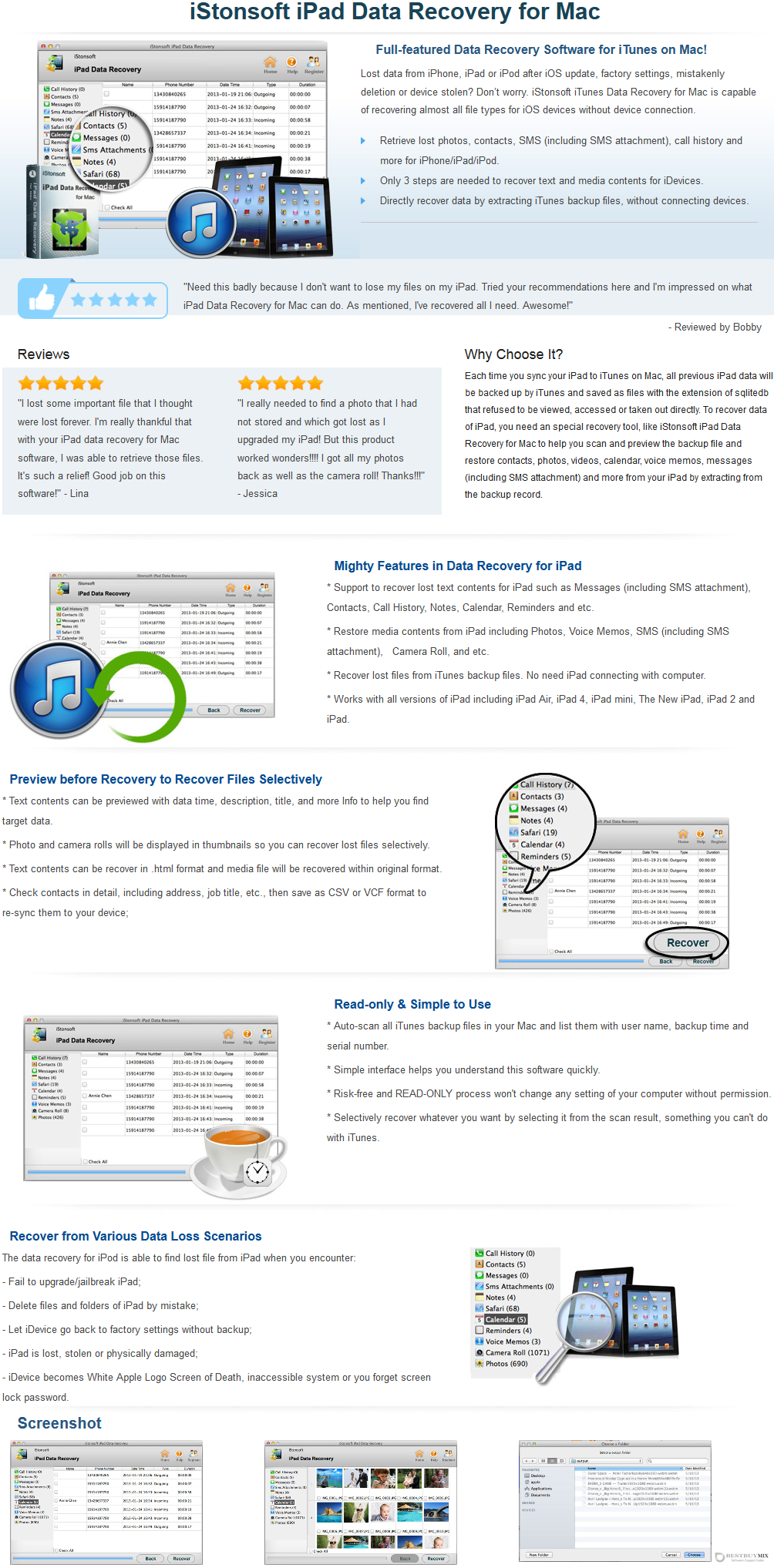 iStonsoft iPad Data Recovery for Mac Discount Coupon Code