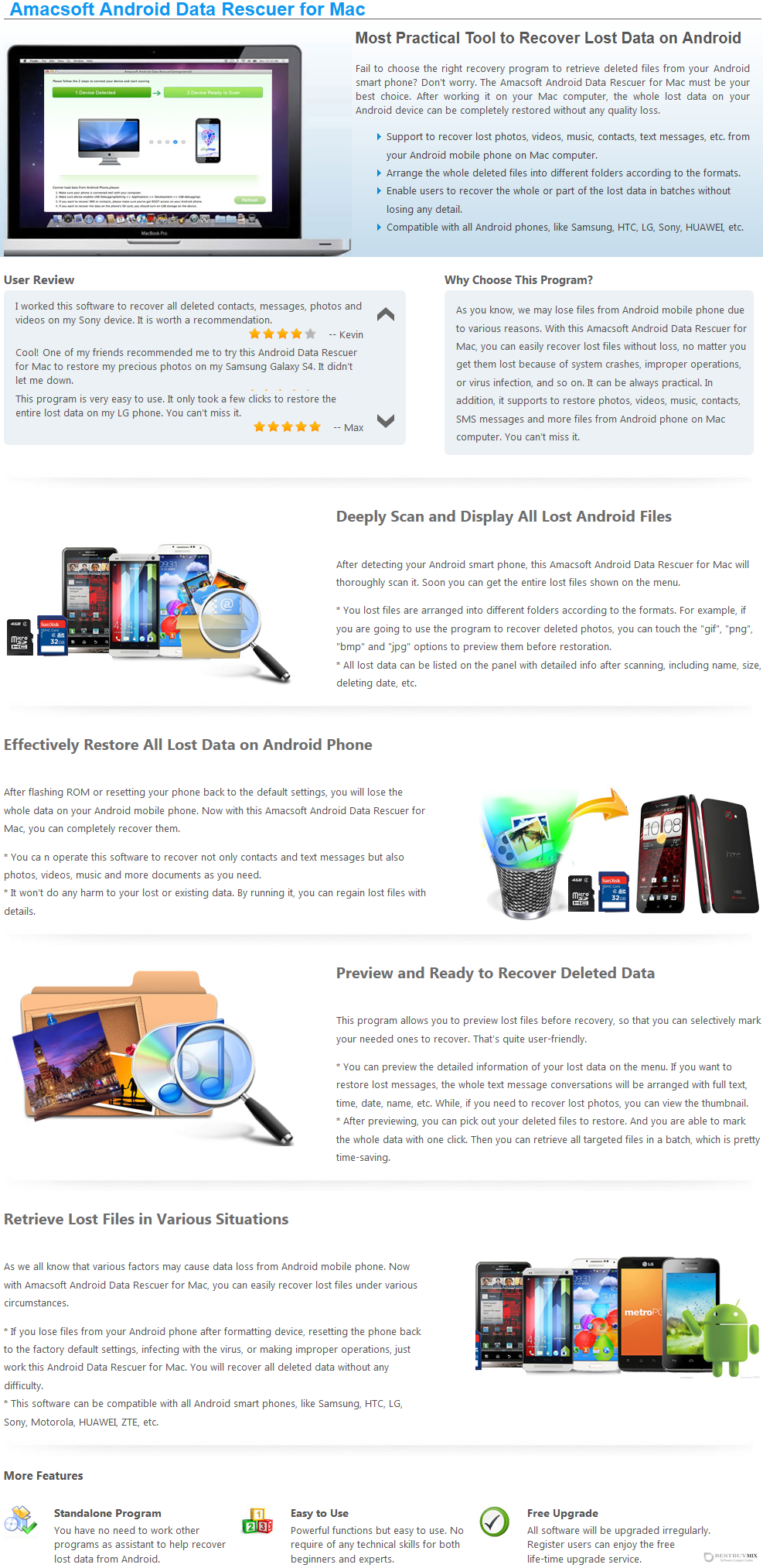 Amacsoft Android Data Rescuer for Mac Discount Coupon Code