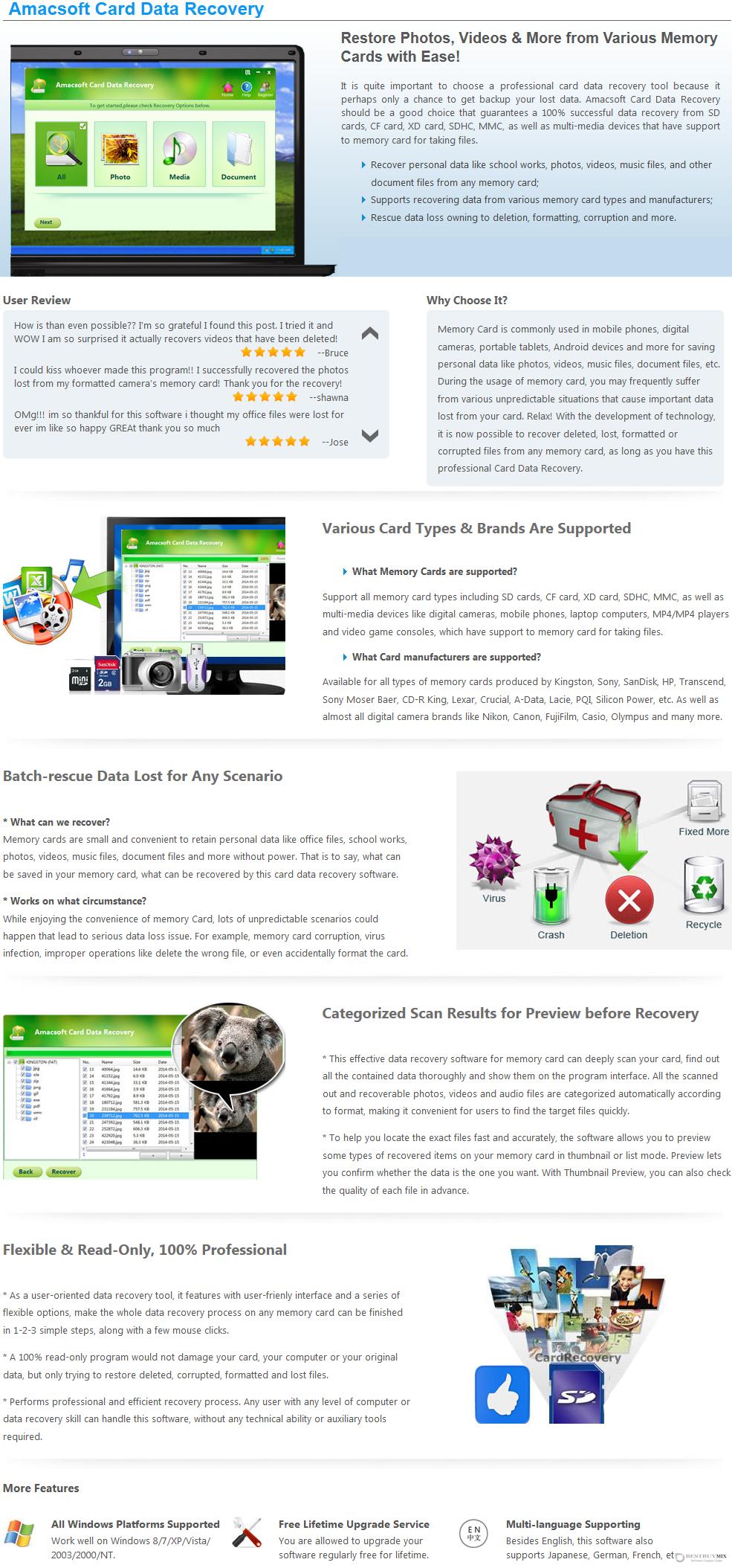Amacsoft Card Data Recovery Discount Coupon Code