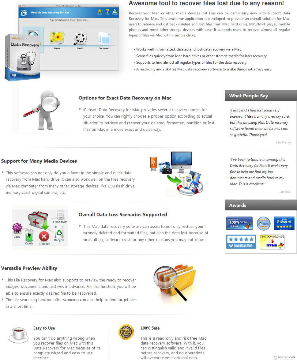 iPubsoft Data Recovery for Mac Discount Coupon Code