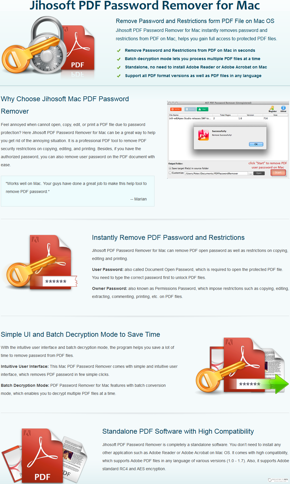 Jihosoft PDF Password Remover for Mac Discount Coupon Code