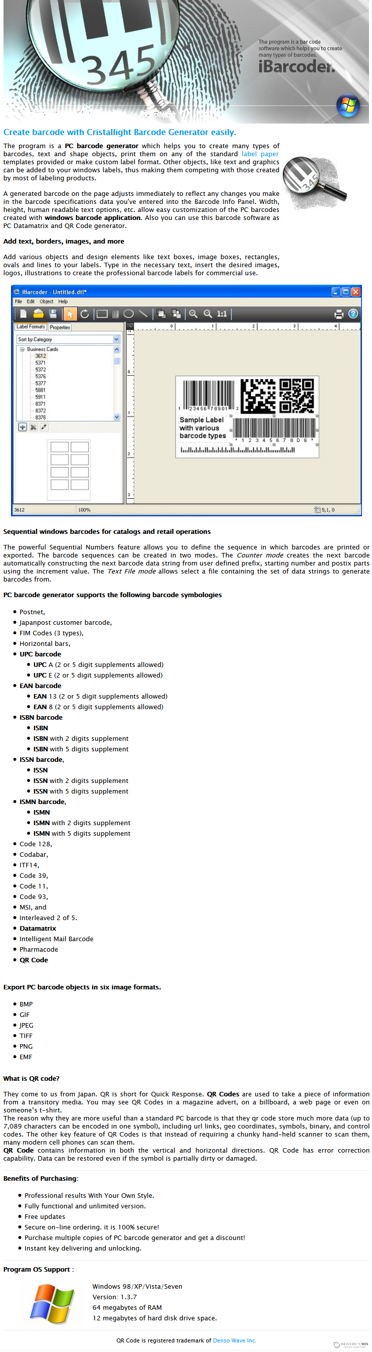 iBarcoder - PC Barcode Generator Discount Coupon Code