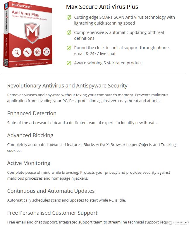 Max Secure Anti Virus Plus Discount Coupon Code