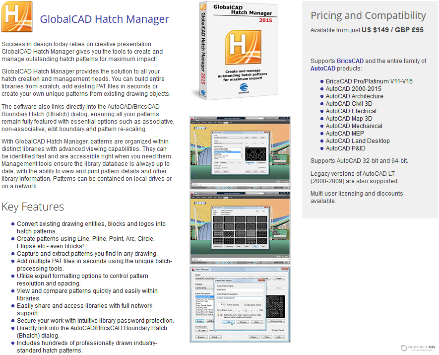 GlobalCAD Hatch Manager Discount Coupon Code