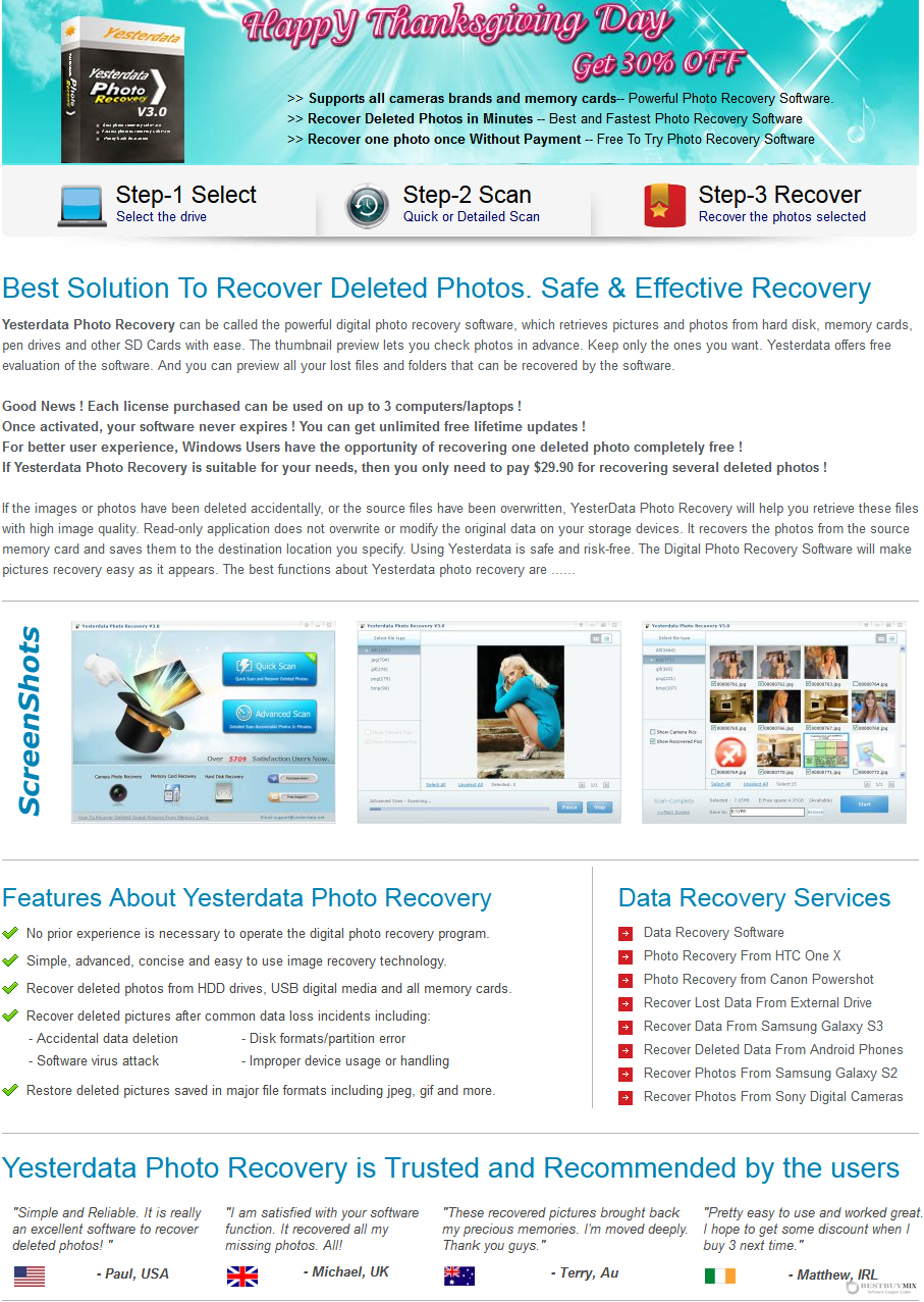 Yesterdata Photo Recovery Discount Coupon Code