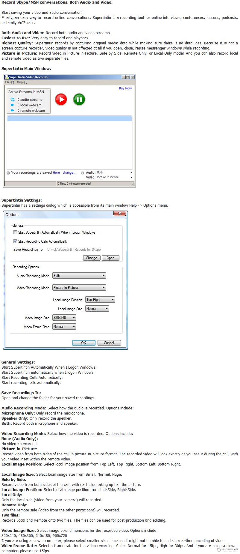 Supertintin MSN Webcam Recorder Discount Coupon Code