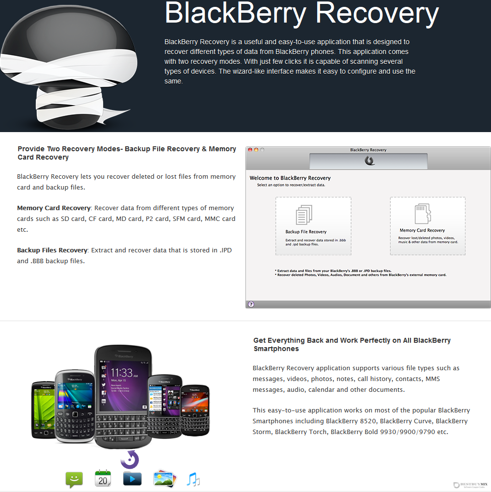 BlackBerry Recovery for Mac Discount Coupon Code