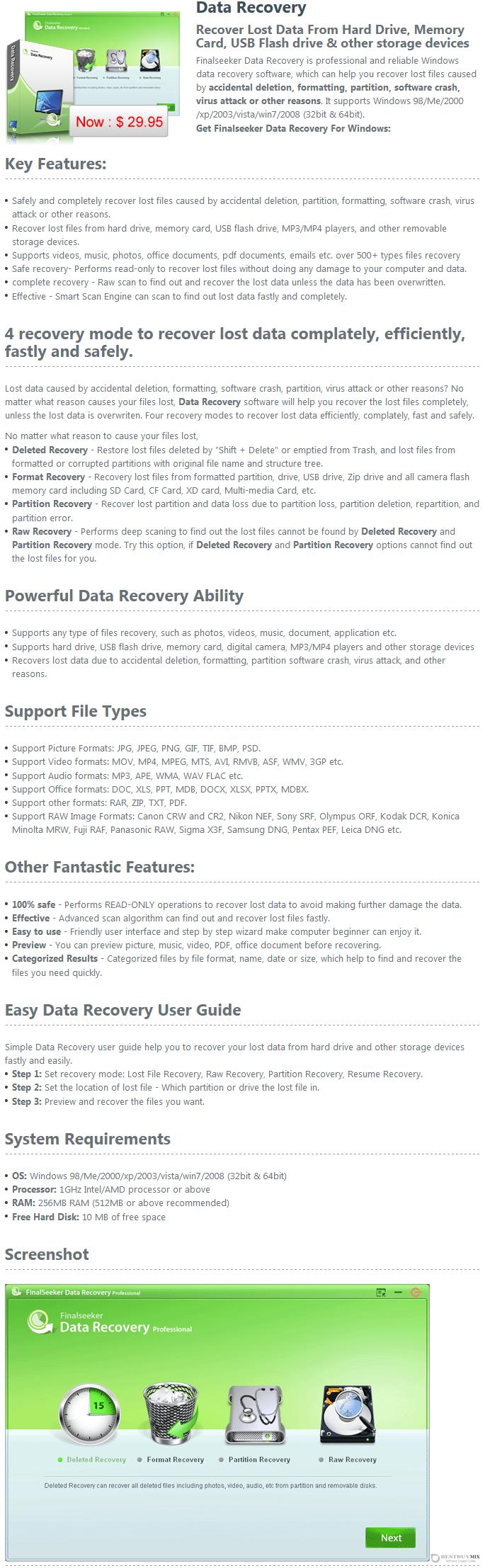 Finalseeker Data Recovery