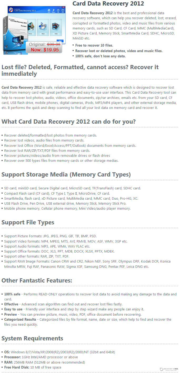 Finalseeker Card Data Recovery Discount Coupon Code
