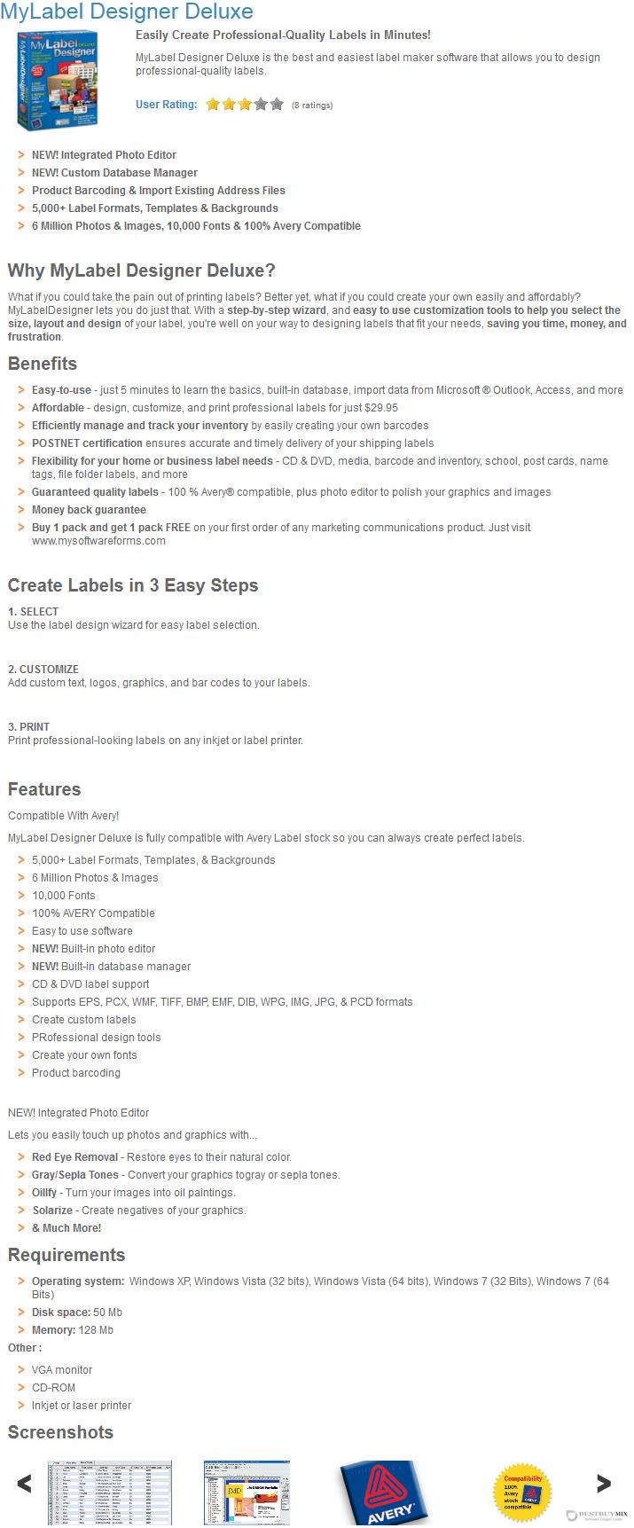 MyLabel Designer Deluxe Discount Coupon Code