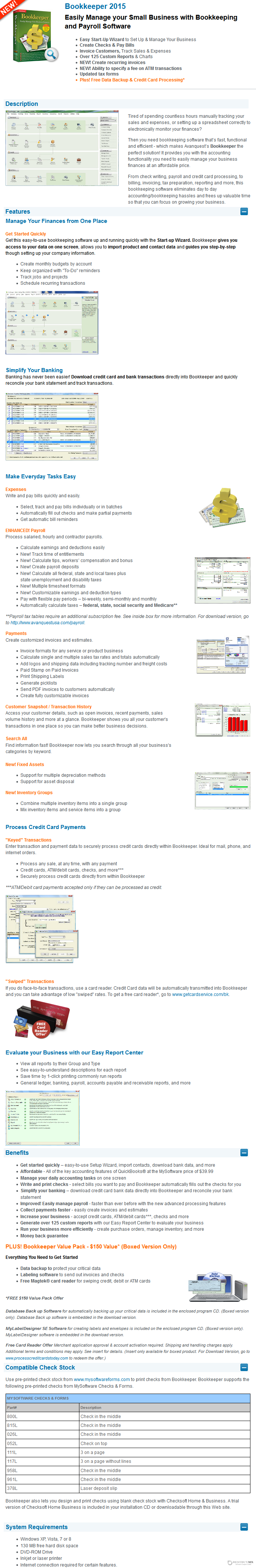 30% Off - Avanquest Bookkeeper with Discount Coupon code