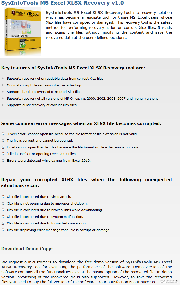 SysInfoTools MS Excel XLSX Recovery Discount Coupon Code