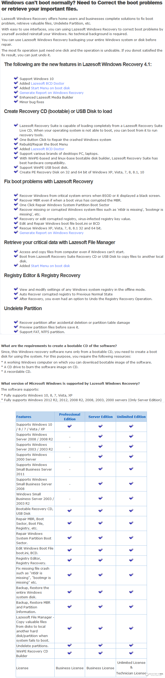 Lazesoft Windows Recovery Professional Edition Discount Coupon Code