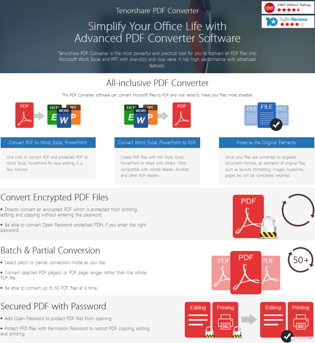 Tenorshare PDF Converter for Windows Discount Coupon Code