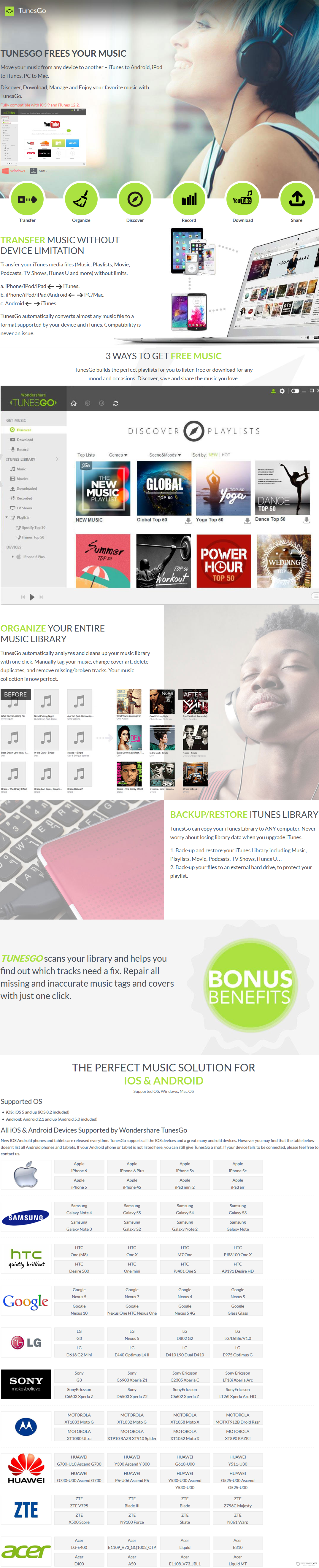 Wondershare TunesGo for Android (Mac) Discount Coupon Code